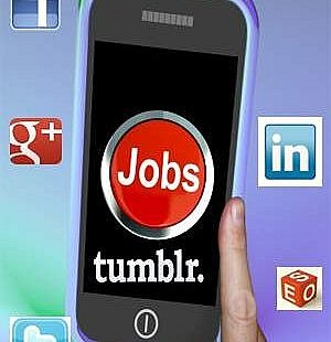 social media networks to find a job