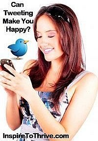 tweeting make you happy