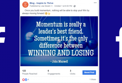 Facebook page posts