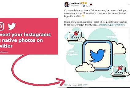 IFTTT for Instagram to tweet