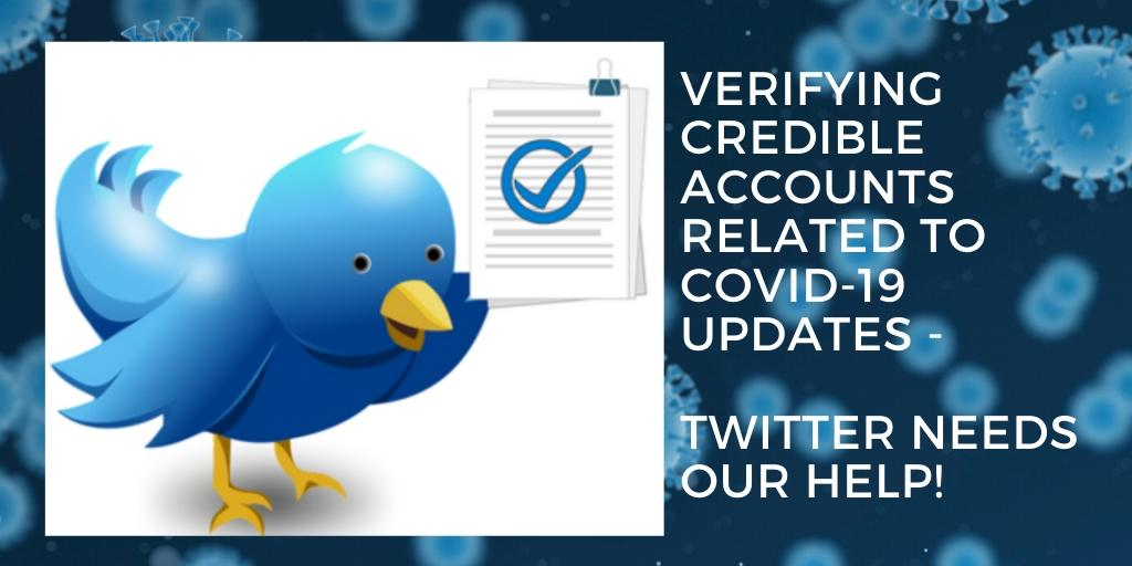 Getting verified on Twitter for Covid-19 accounts
