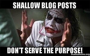 shallow blog posts