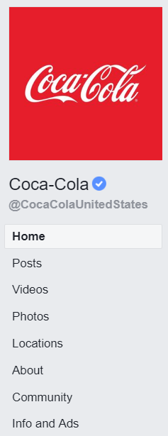 Coca-Cola Facebook ads