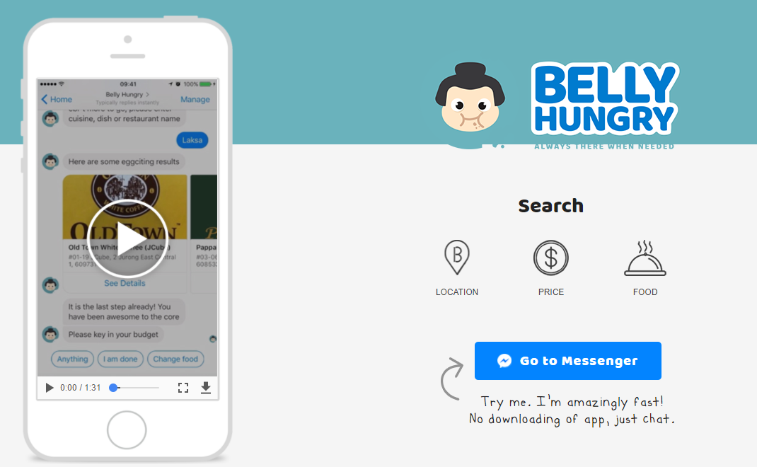 Belly hungry chatbot