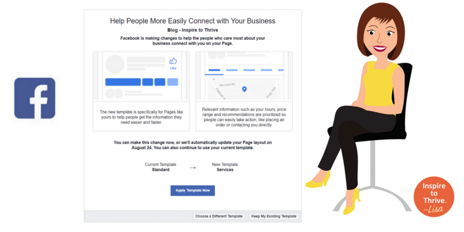 How to change your new facebook page template feature accmission Choice Image