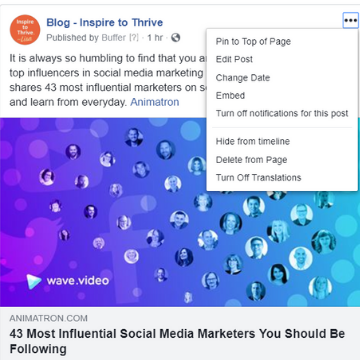 how to edit a Facebook page post