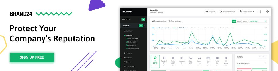 brand24 for social mentions