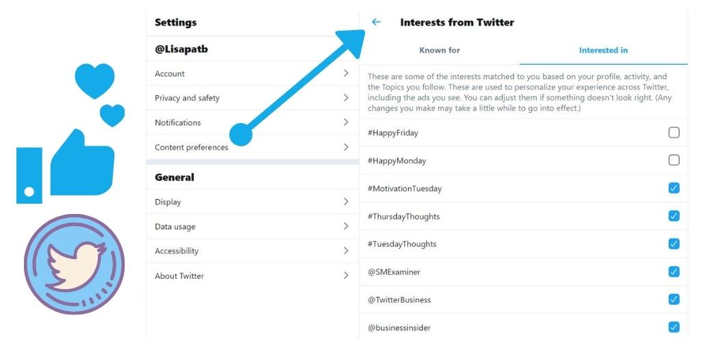 How to change your Twitter interests