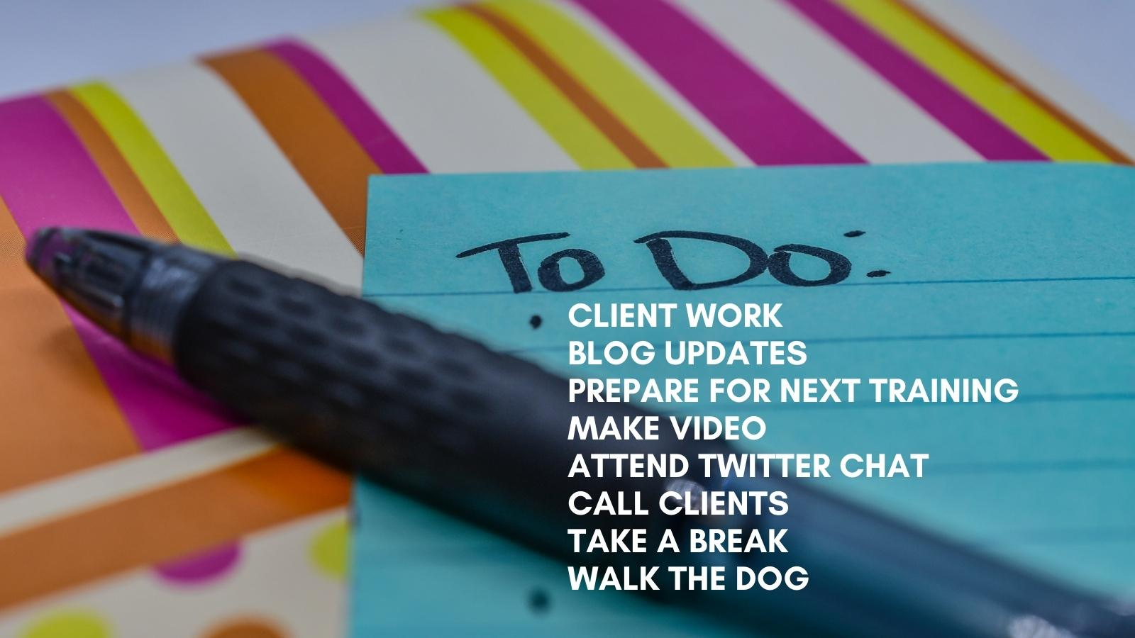 my to do list helps optimize my working day