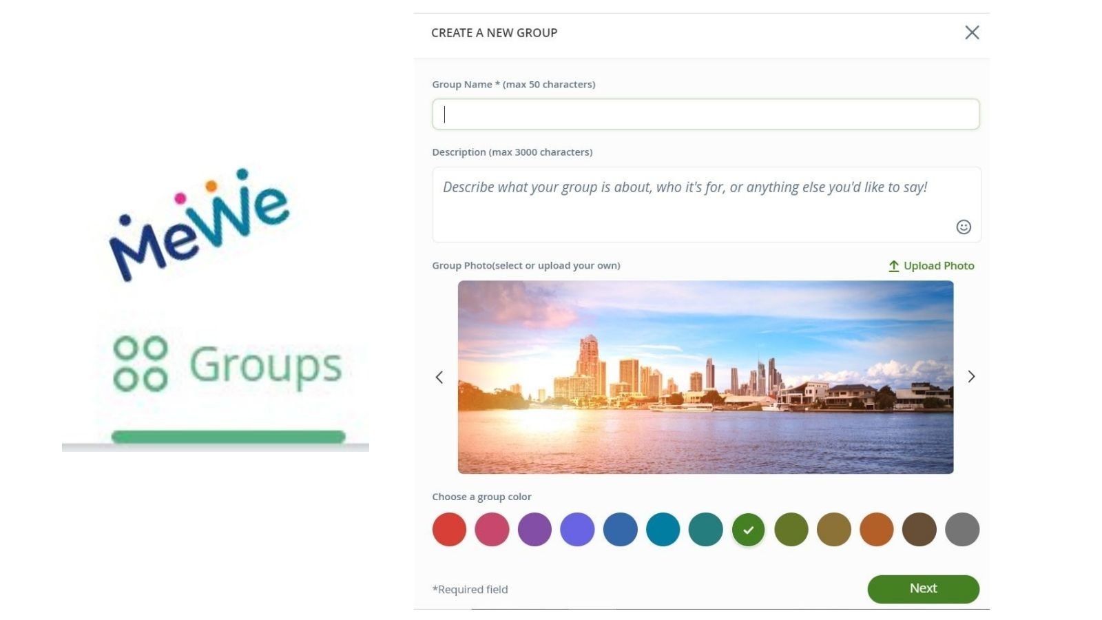 how to use mewe groups