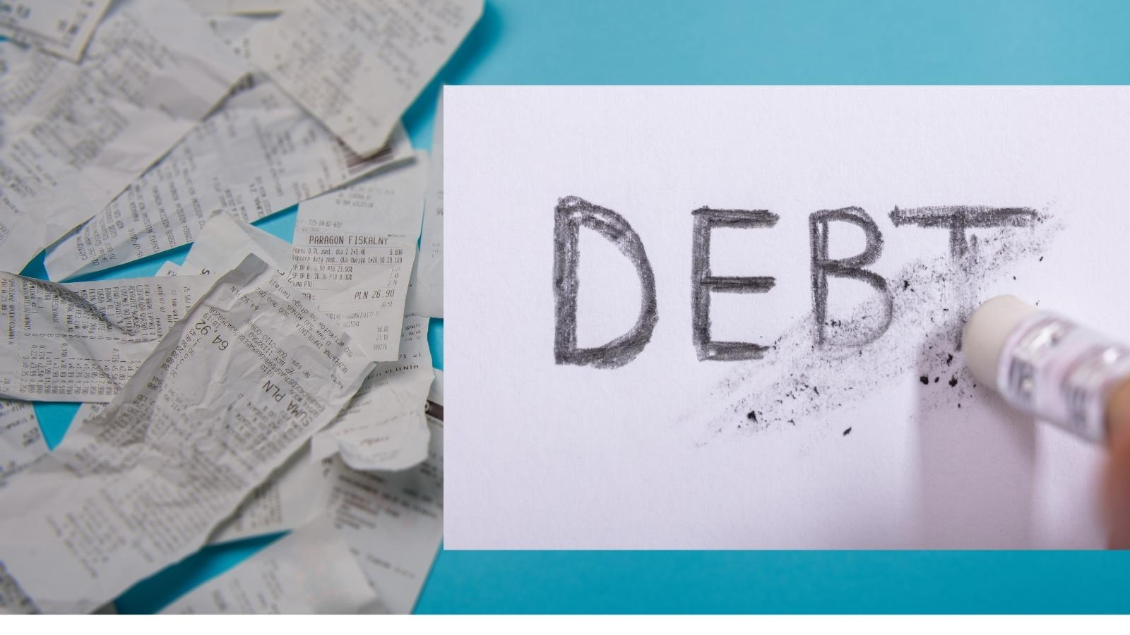 how much debt someone has and someone's final credit tally