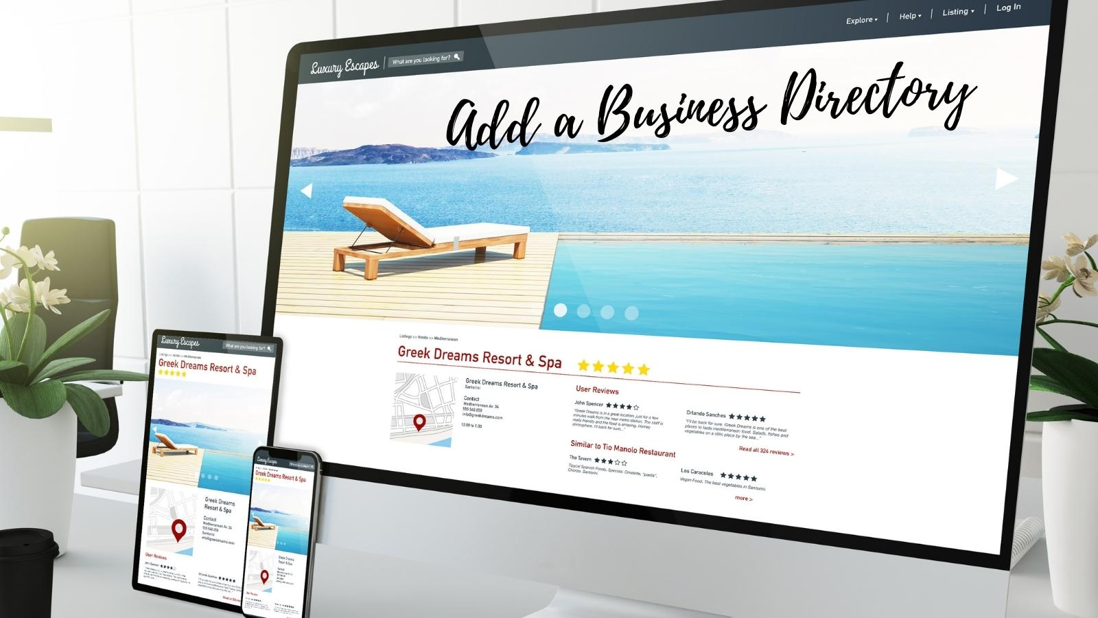 add a business directory to your blog