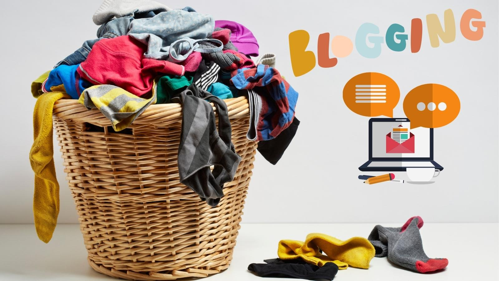 blogging over laundry