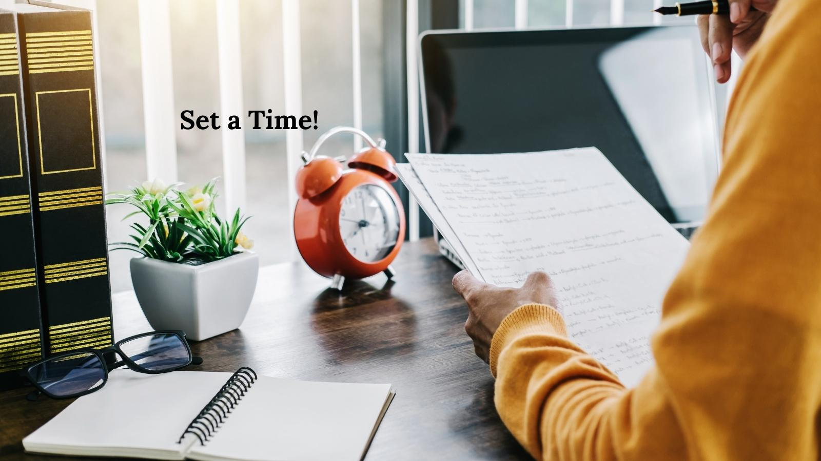 freelancers learn how to set a time