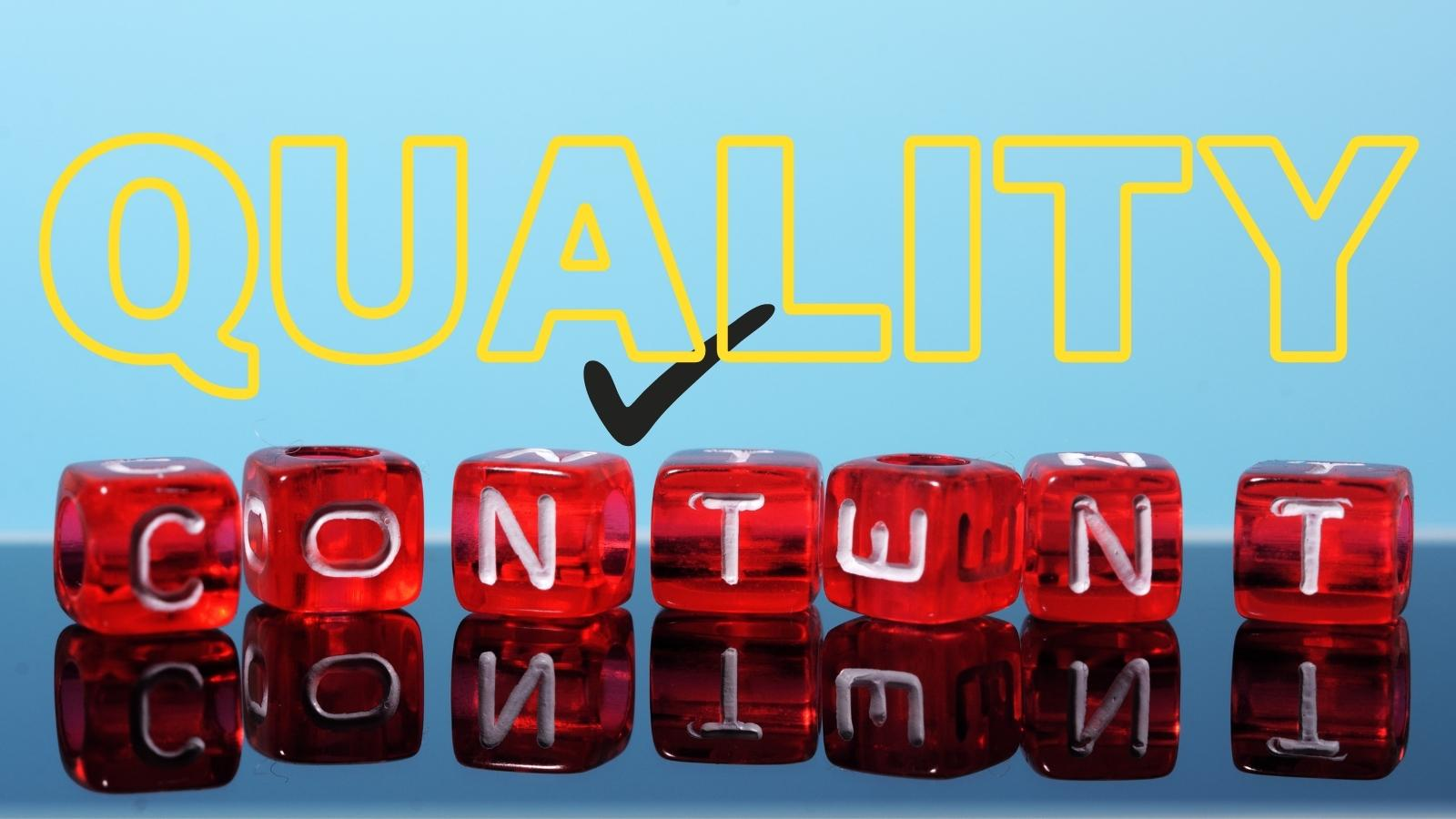 use quality content for your new online business