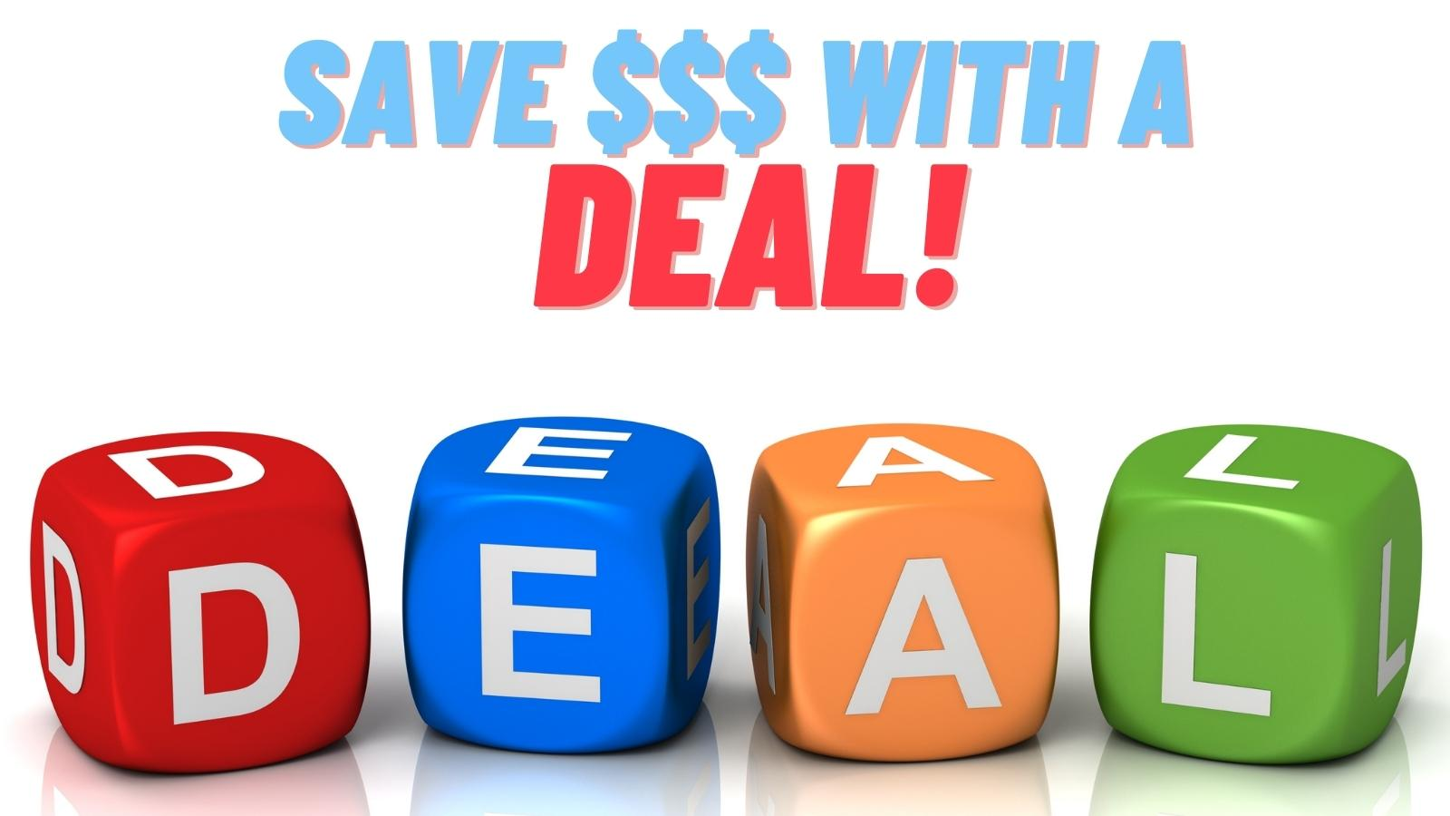 save money with a deal on purchases