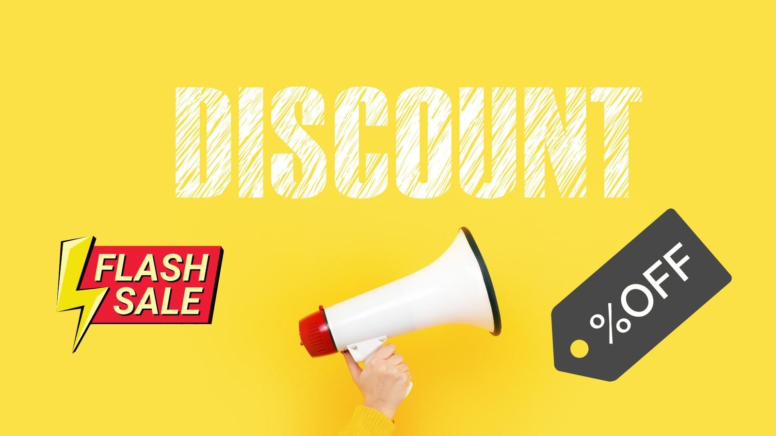 offer discounts to increase sales